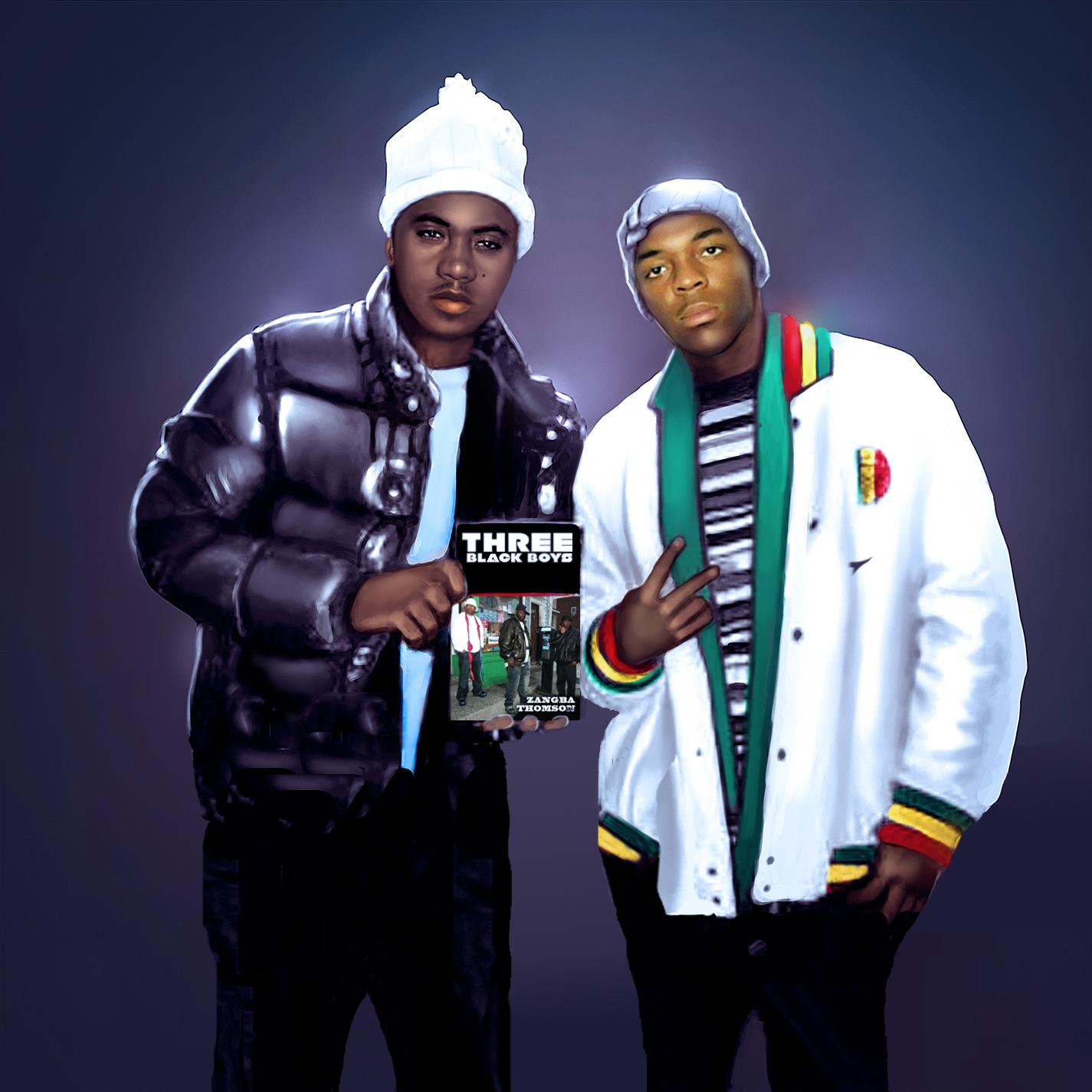 Zangba & Nas Three Black Boys portrait