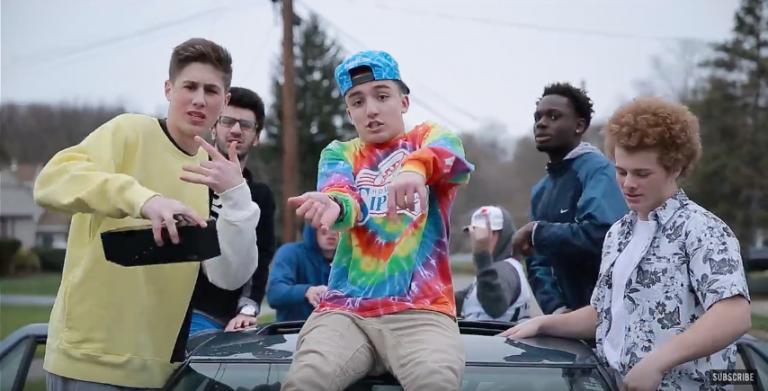 """Trevor Spitta in music video for """"Level Up"""""""