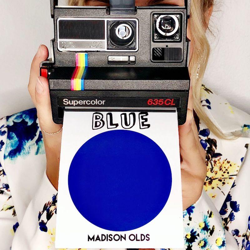 Madison Olds + BLUE + artwork