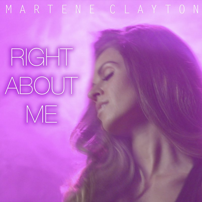 "Martene Clayton – ""Right About Me"" artwork"