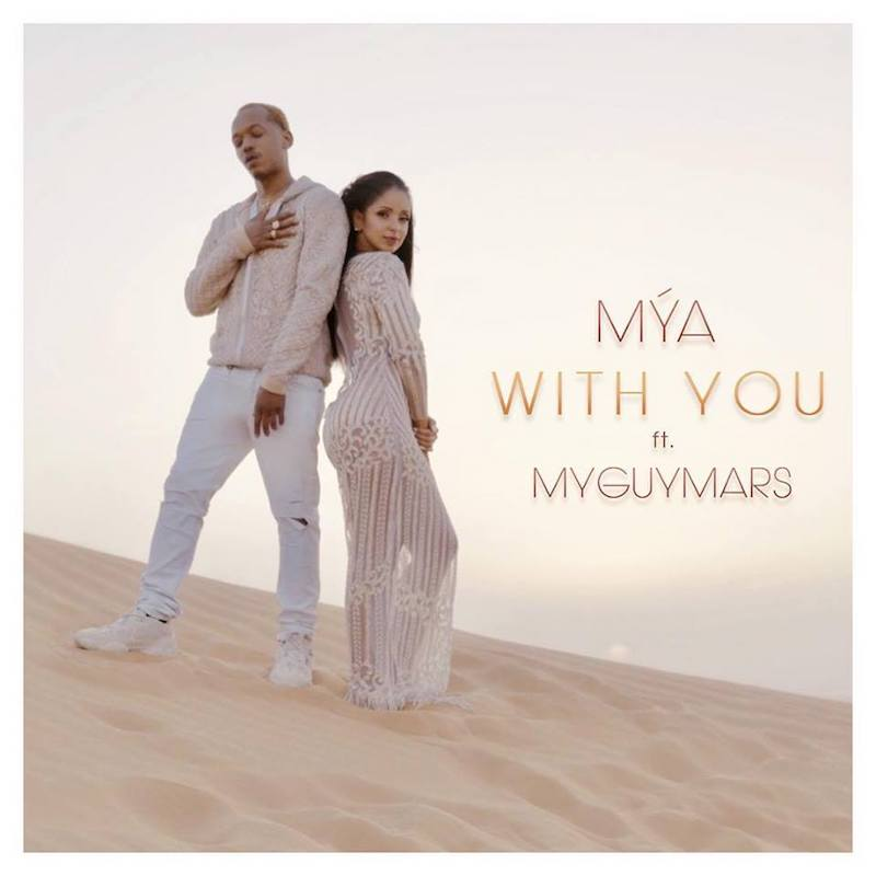 "Mýa – ""With You"" featuring MyGuyMars artwork"