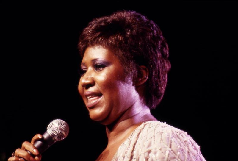Aretha Franklin performs at Radio City Music Hall in 1982.