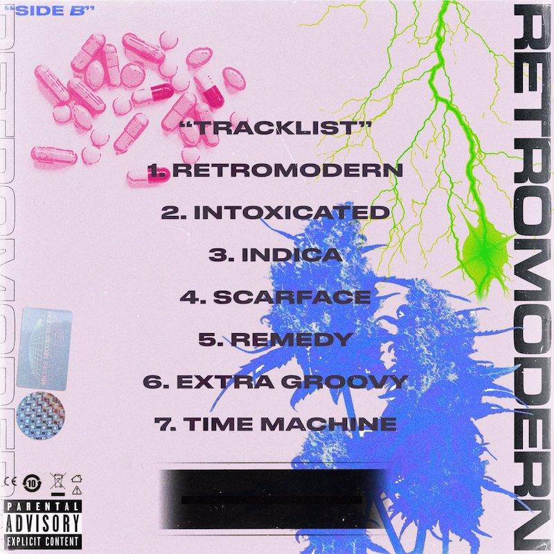"INDICA - ""RETROMODERN"" EP inside artwork"