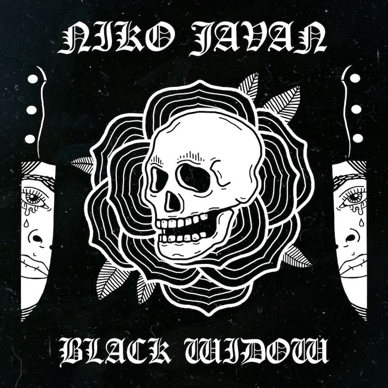 "Niko Javan – ""Black Widow"" artwork"
