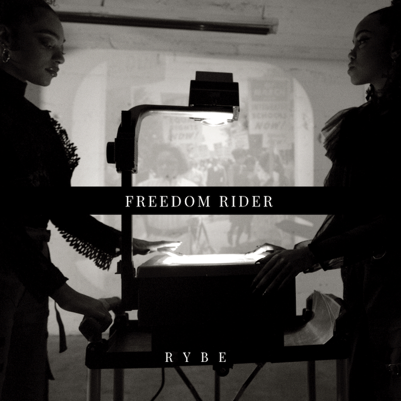 "RYBE – ""Freedom Rider"" artwork"