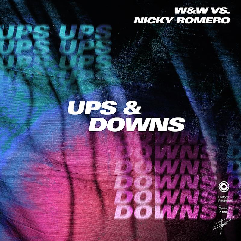 W&W + Nicky Romero + Ups & Downs artwork