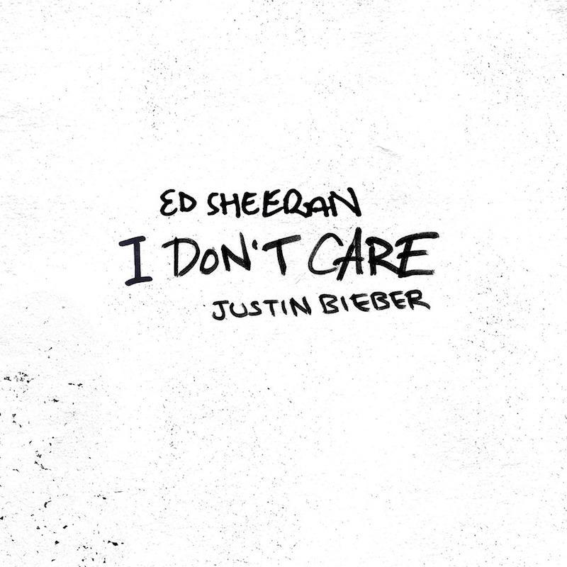 "Ed Sheeran & Justin Bieber - ""I Don't Care"" artrwork"