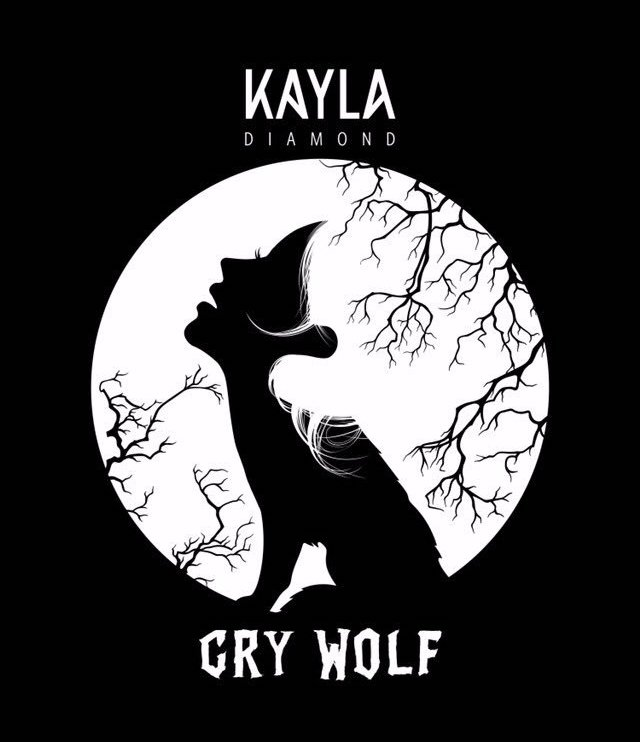 "Kayla Diamond – ""Cry Wolf"" artwork"