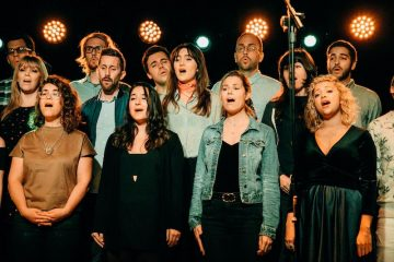 The Silver Lake Chorus press photo on stage