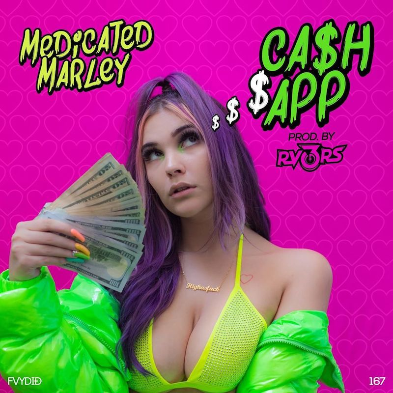 "Medicated Marley – ""Cash App"" cover art"