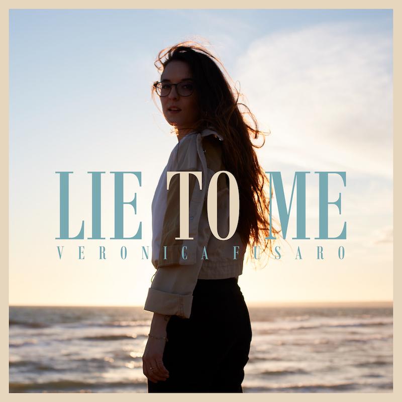 "Veronica Fusaro – ""lie to me"" cover art"
