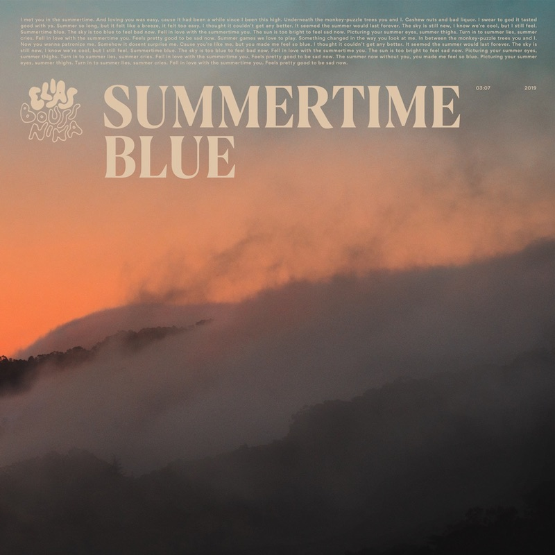 "Elias Boussnina – ""Summertime Blue"" cover art"