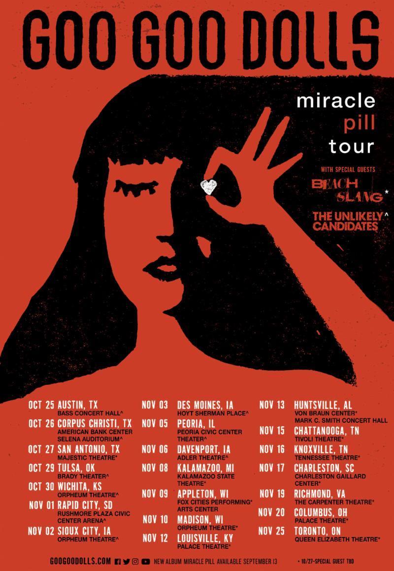 GooGooDolls + 2019 + AllDates + Tour Poster