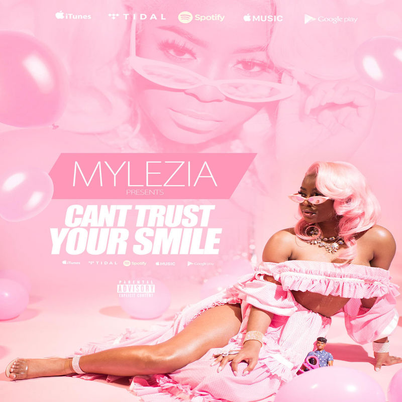 "Mylezia – ""Can' Trust Your Smile"" cover art"
