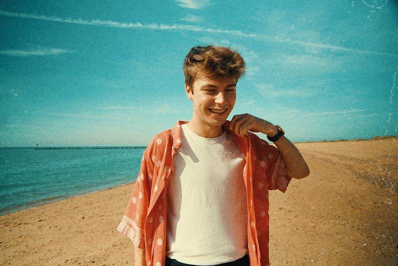Porteous press photo on the beach