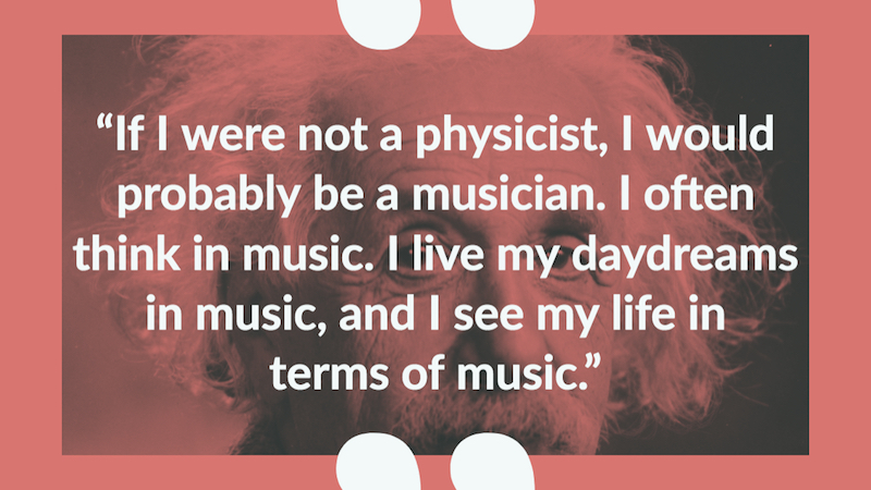 Albert Einstein quote about being  a musician + Photograph by Orren Jack Turner, Princeton, N.J.