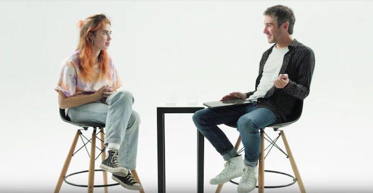 Apple Music host Matt Wilkinson interviews Clairo via Apple Music's Up Next