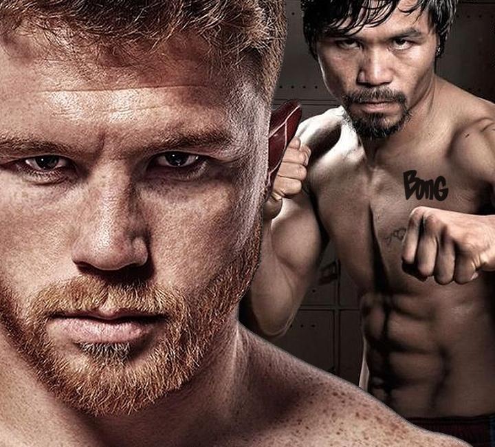 Canelo Álvarez versus Manny Pacquiao cropped