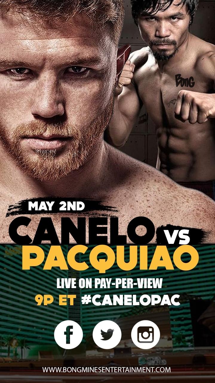 Canelo Álvarez versus Manny Pacquiao poster