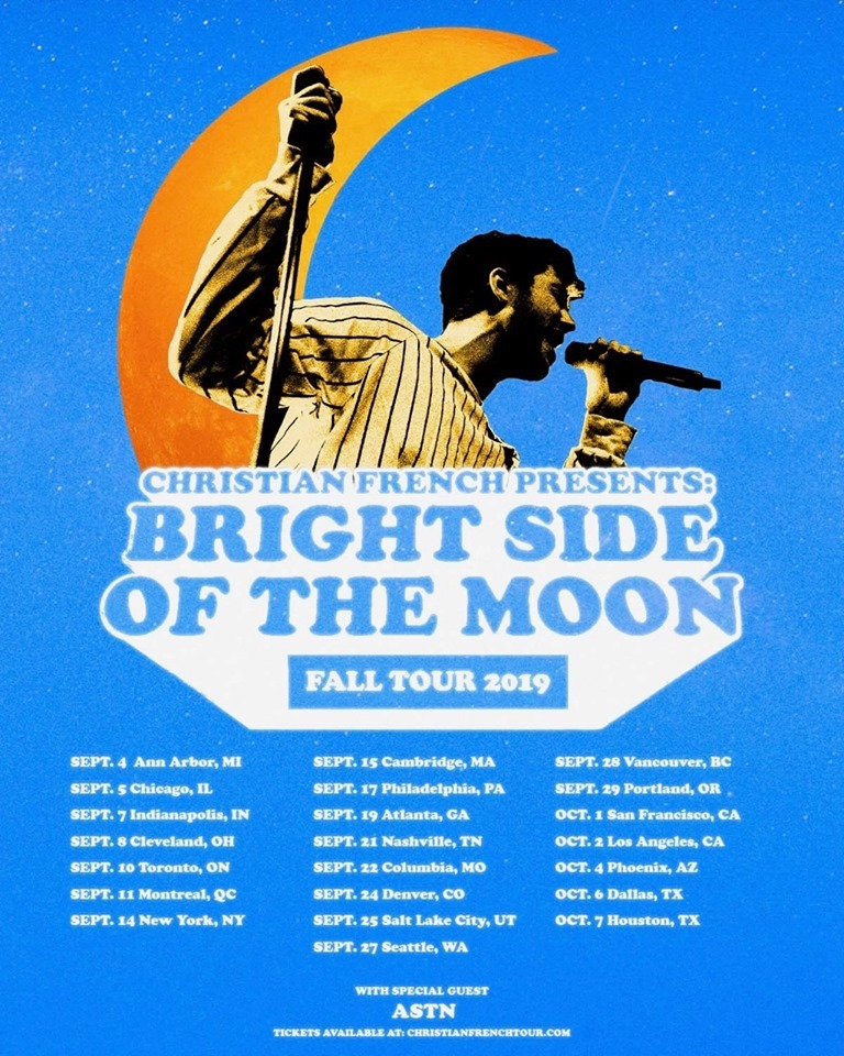 "Christian French - ""bright side of the moon"" tour"
