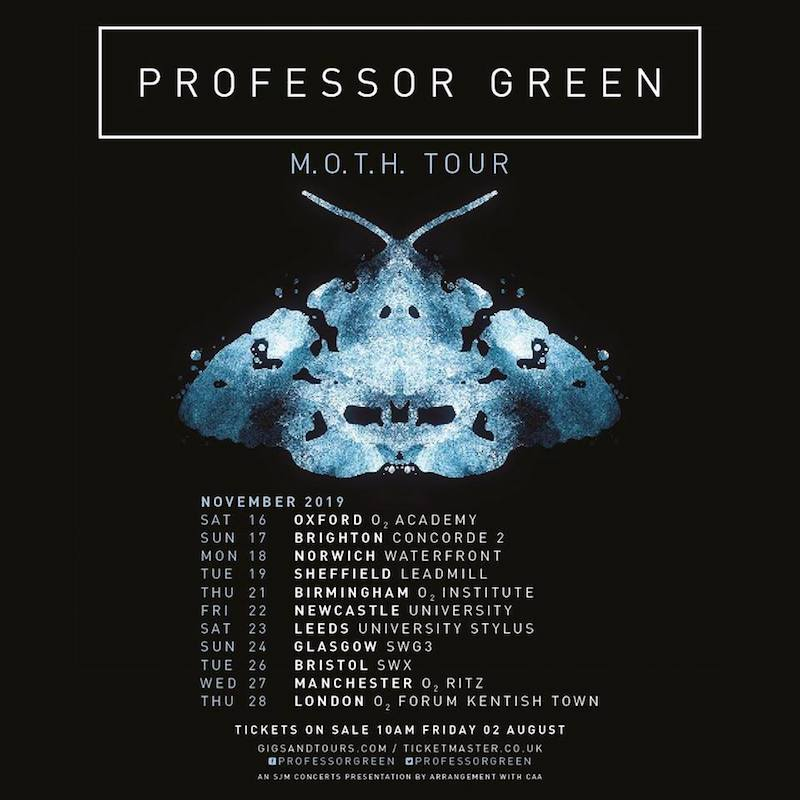 "Professor Green - ""M.O.T.H Tour flyer"