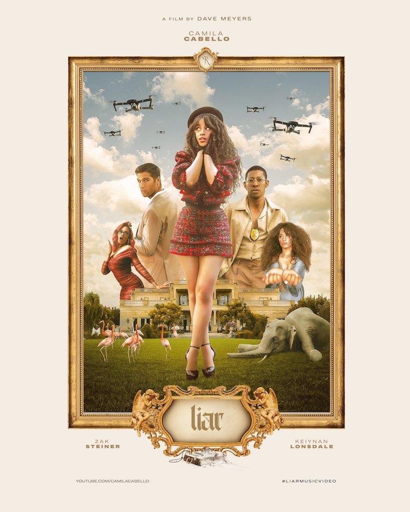 Camila Cabello + Liar poster + Designed by flavsdesigns