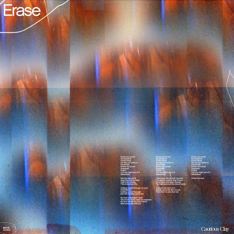 """Cautious Clay - """"Erase"""" cover"""