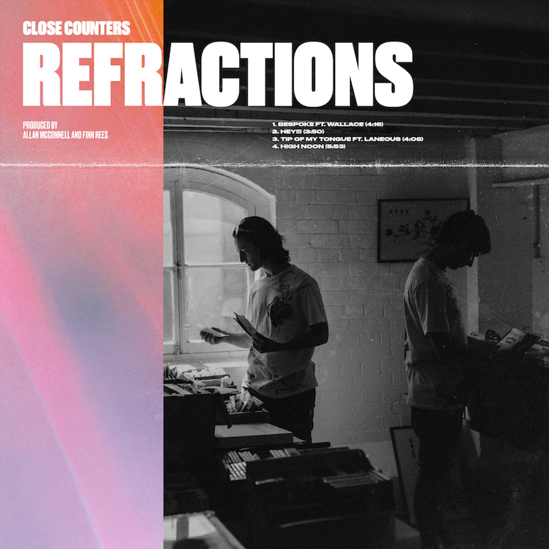 "Close Counters + ""REFRACTIONS"" EP cover"