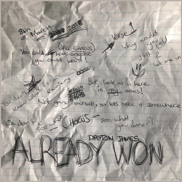 """Dayton James - """"Already Won"""" cover"""