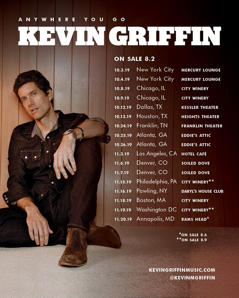 Kevin Griffin Fall Tour 2019