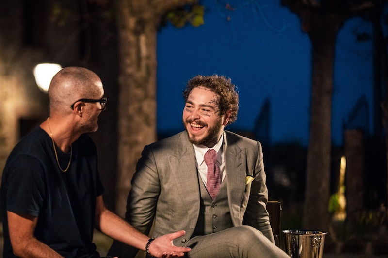 Post Malone + Zane Lowe press photo by Perran Williams