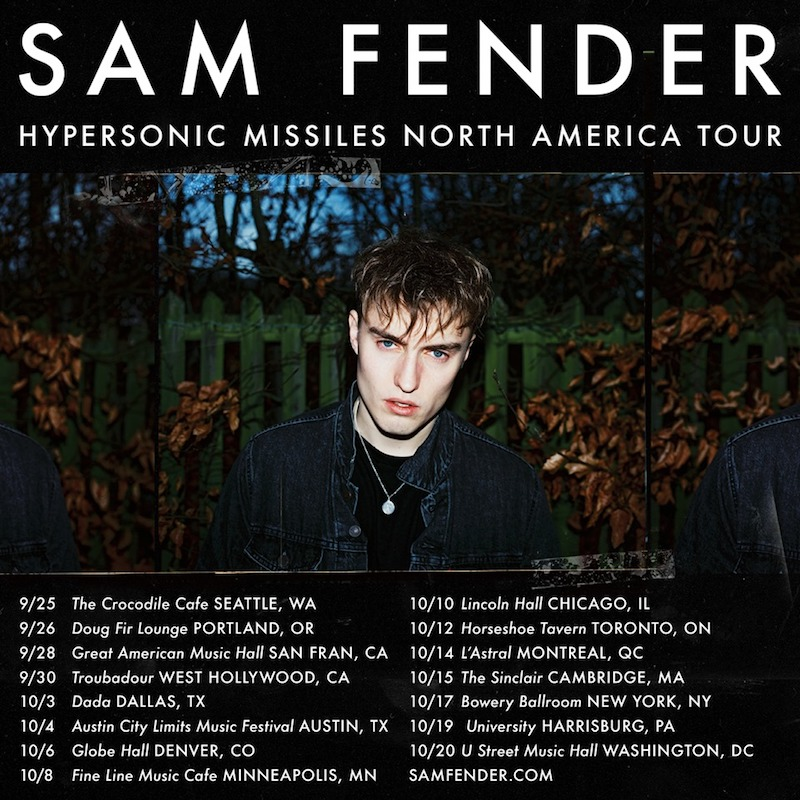 "Sam Fender + ""Hypersonic Missiles"" + North American Tour"