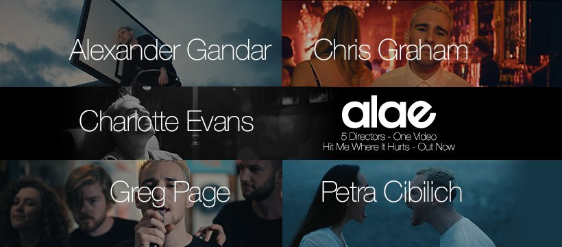 """Alae - """"Hit Me Where It Hurts"""" director banner"""