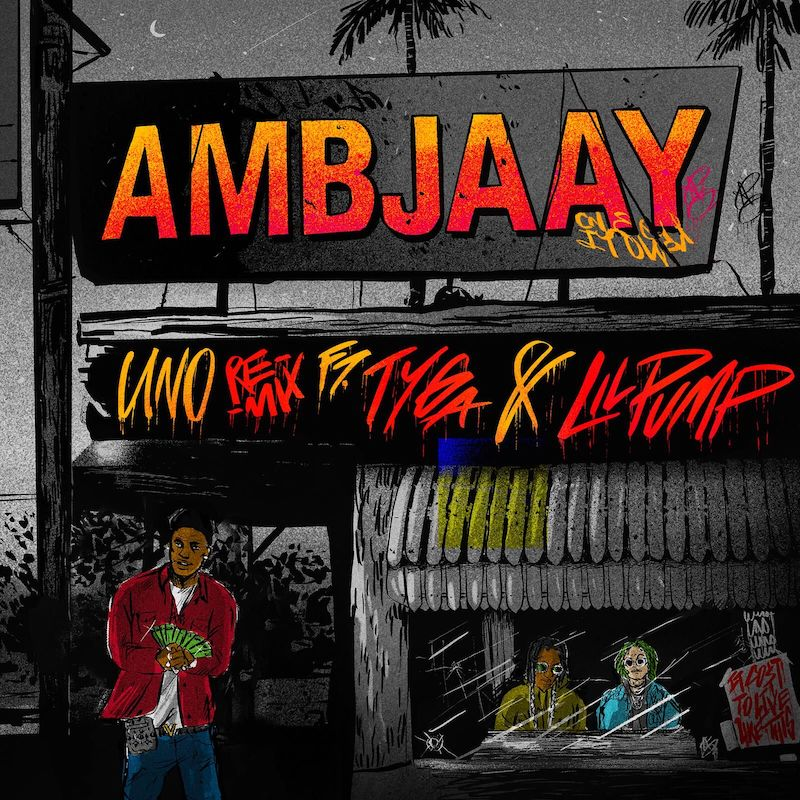 "Ambjaay - ""Uno (Remix)""cover art"