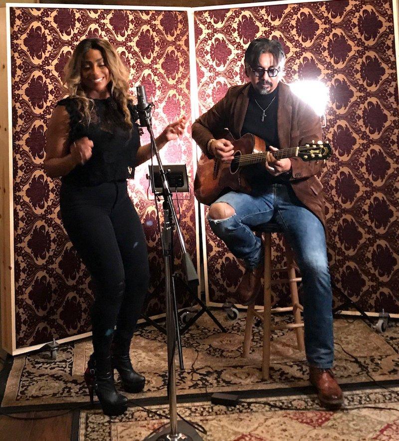 Mike Mostert + Lanesha Latimer studio photo