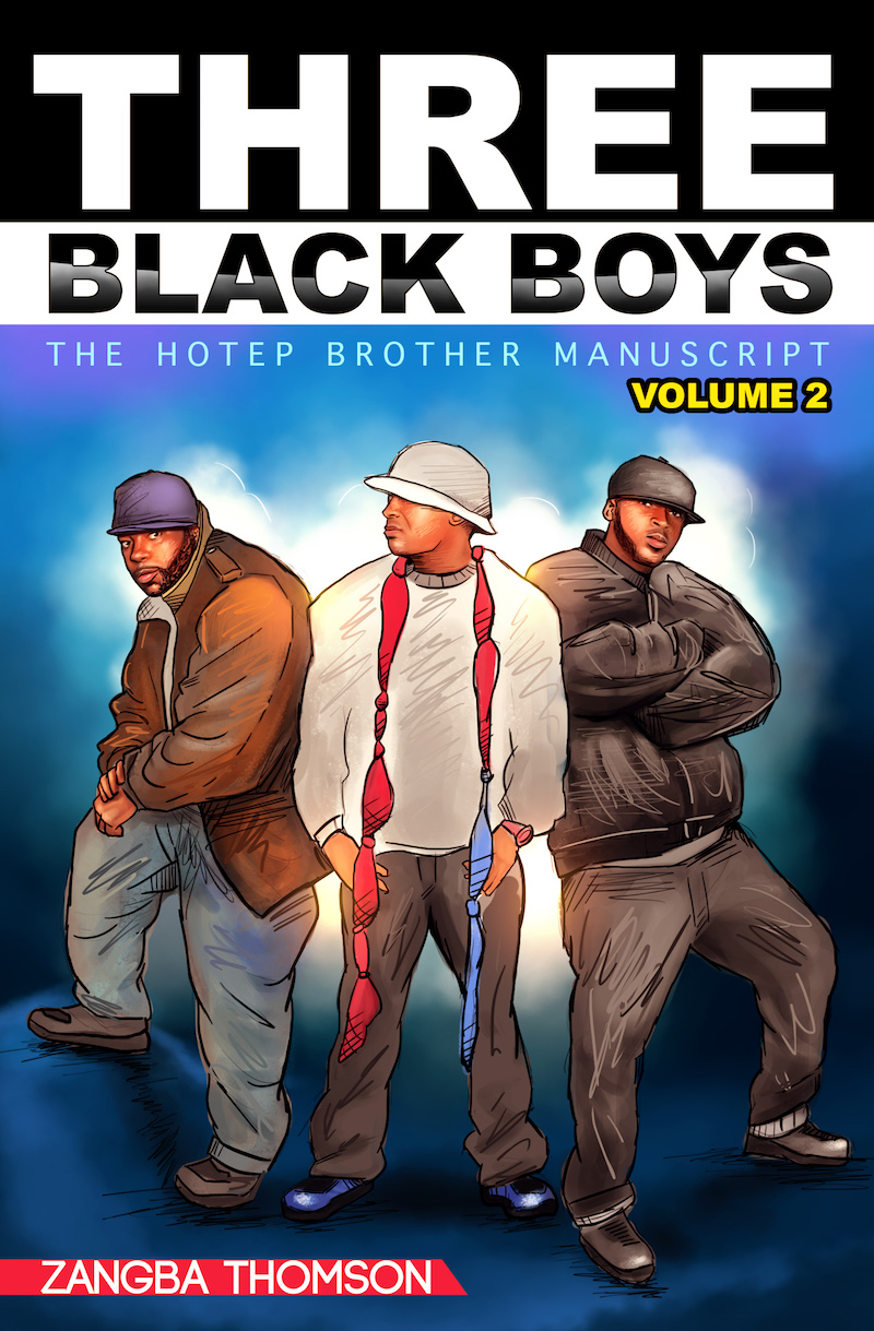 Three Balck Boys (Volume 2) front cover + Zangba Thomson