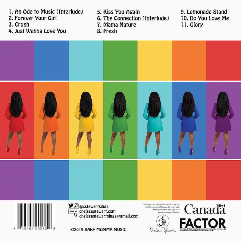 Chelsea Stewart album back cover