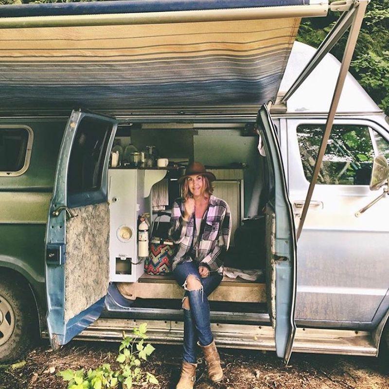 Emily Chambers and van