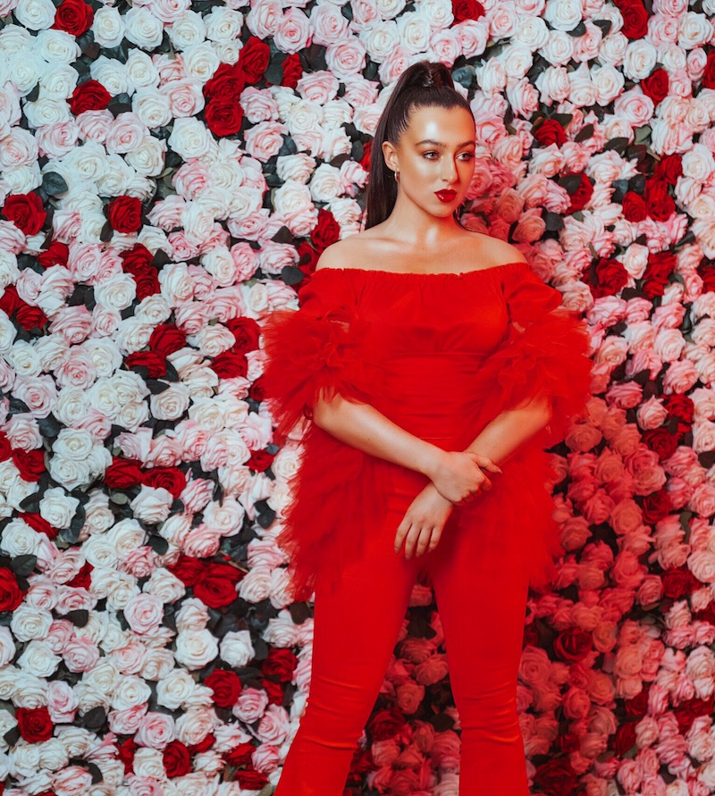 Grace Rhodes - GR Red outfit