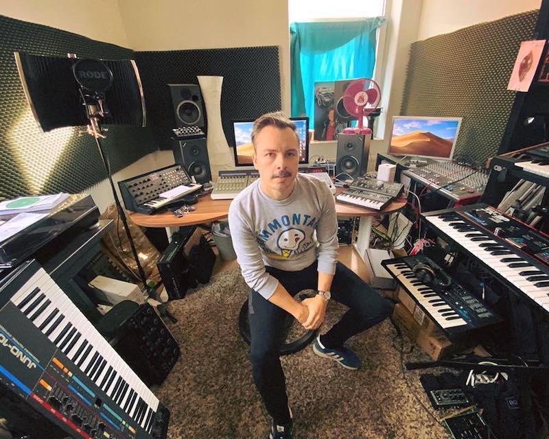 Purple Disco Machine in his old studio