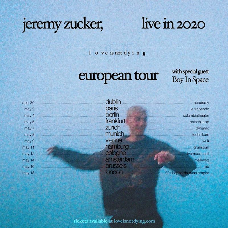 Boy in Space announced a European Tour Support with Jeremy Zucker