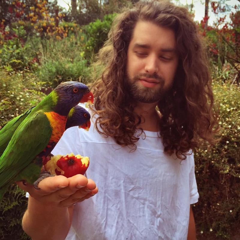 MXXWLL press photo with bird