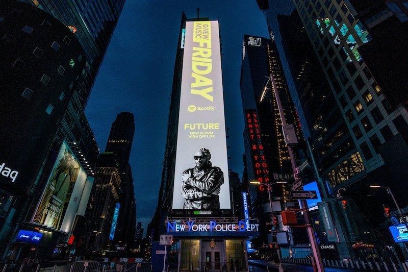 Future - High Off Life NYC Billboard