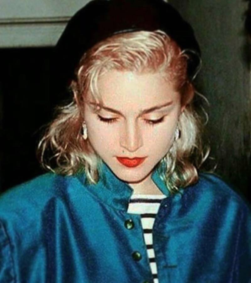 Madonna photo looking down
