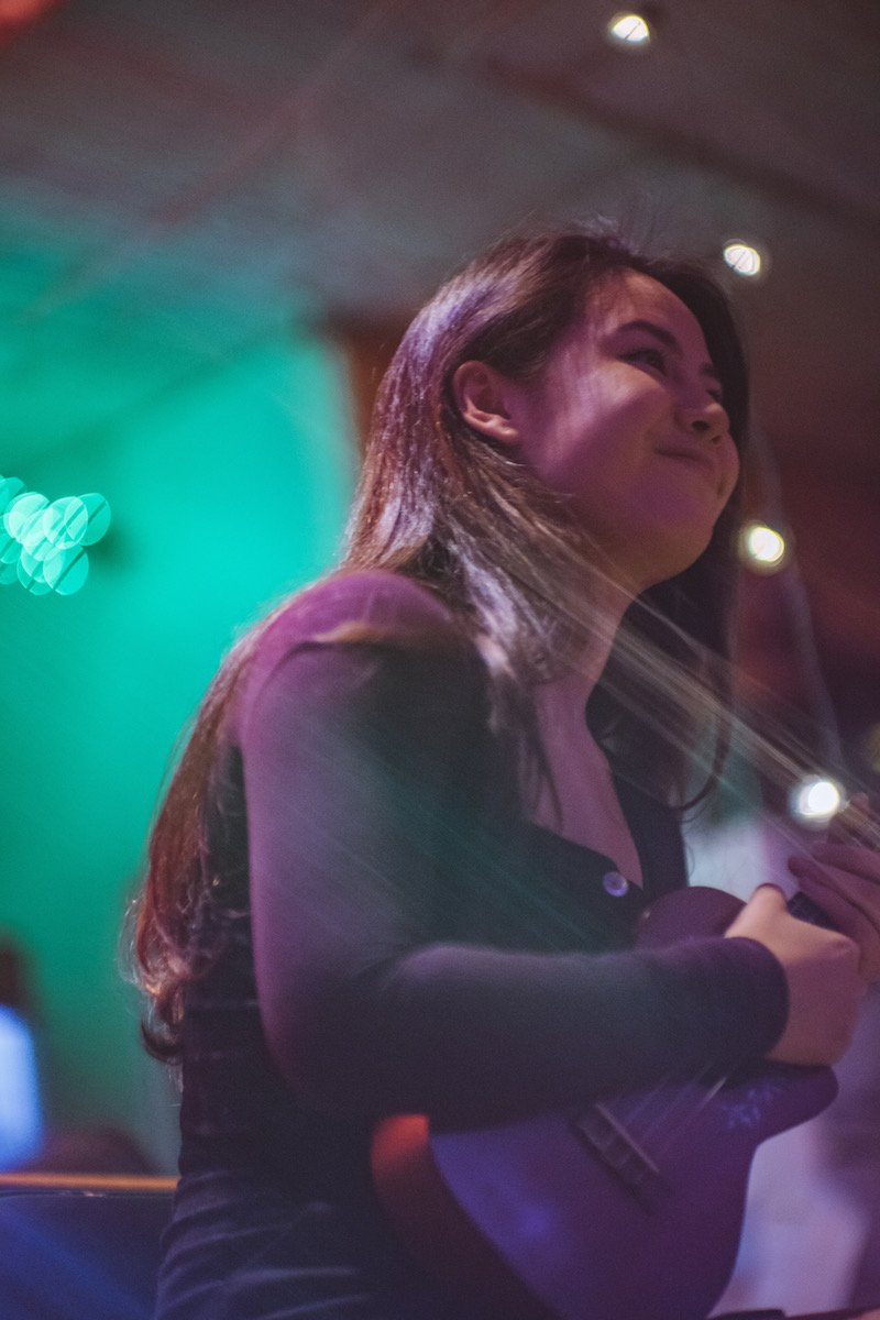 Emili press photo on stage