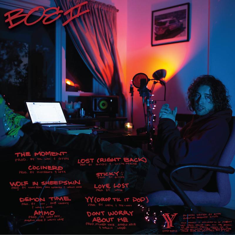 "GYYPS - ""Burn on 'Em, Vol. 2"" mixtape back cover"