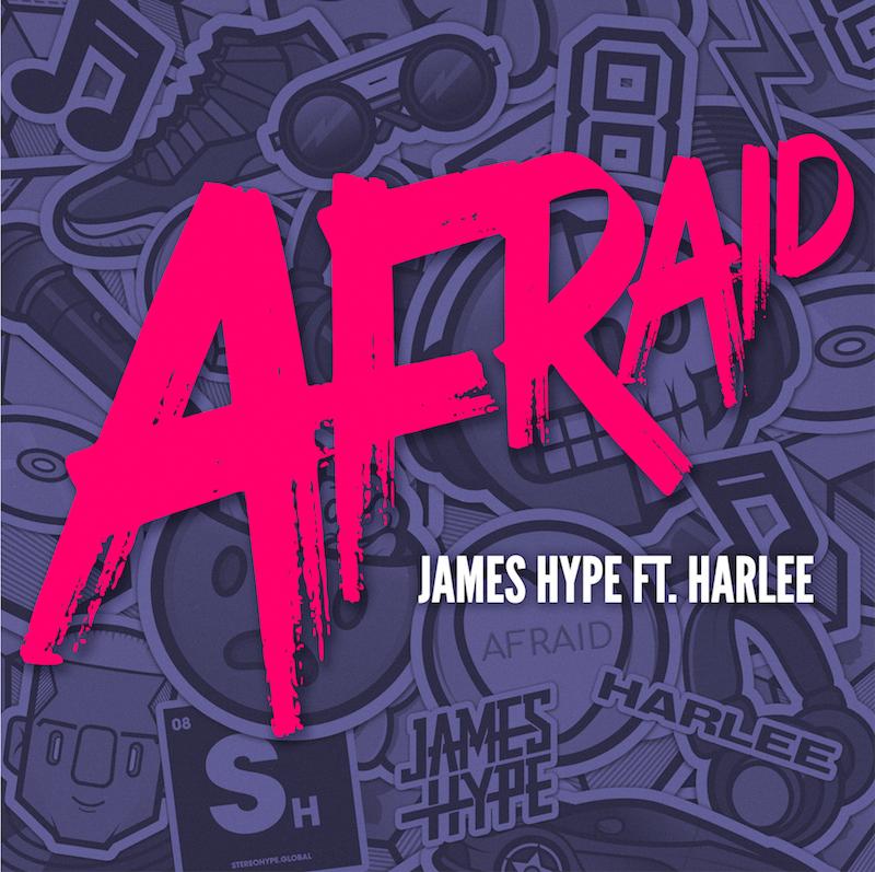 "James Hype – ""Afraid"" cover art"