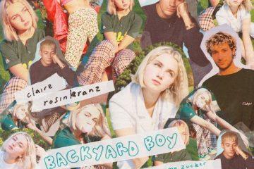 "Claire Rosinkranz & Jeremy Zucker - ""Backyard Boy"" cover art"