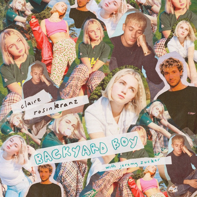 "Claire Rosinkranz & Jeremy Zucker - ""Backyard Boy"" cover art"