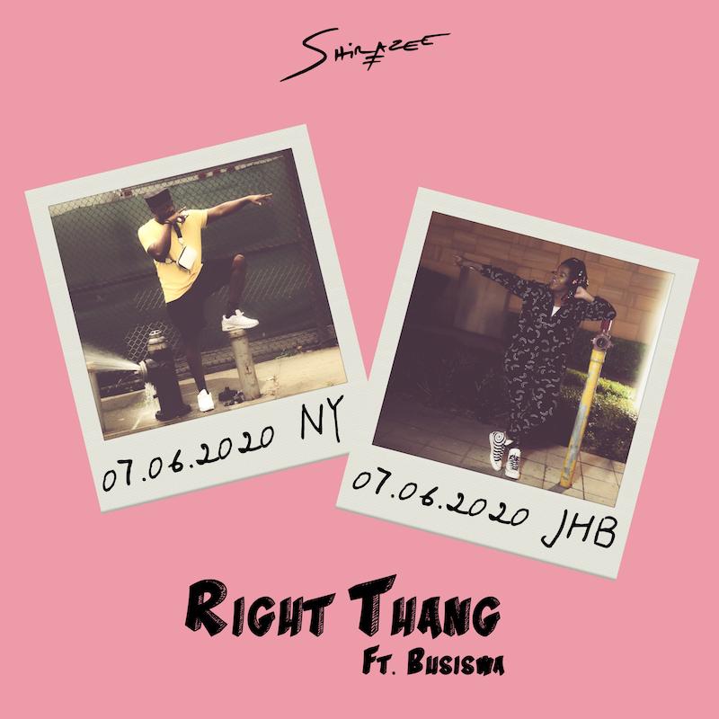"Shirazee & Busiswa ""RIGHT THANG"" cover art"